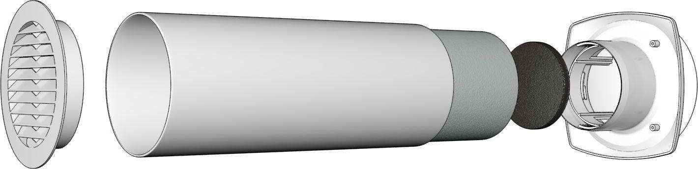 Клапан приточный Street Line, 10КП, белый