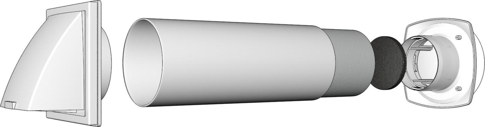 Клапан приточный Street Line, 10КП-02, белый