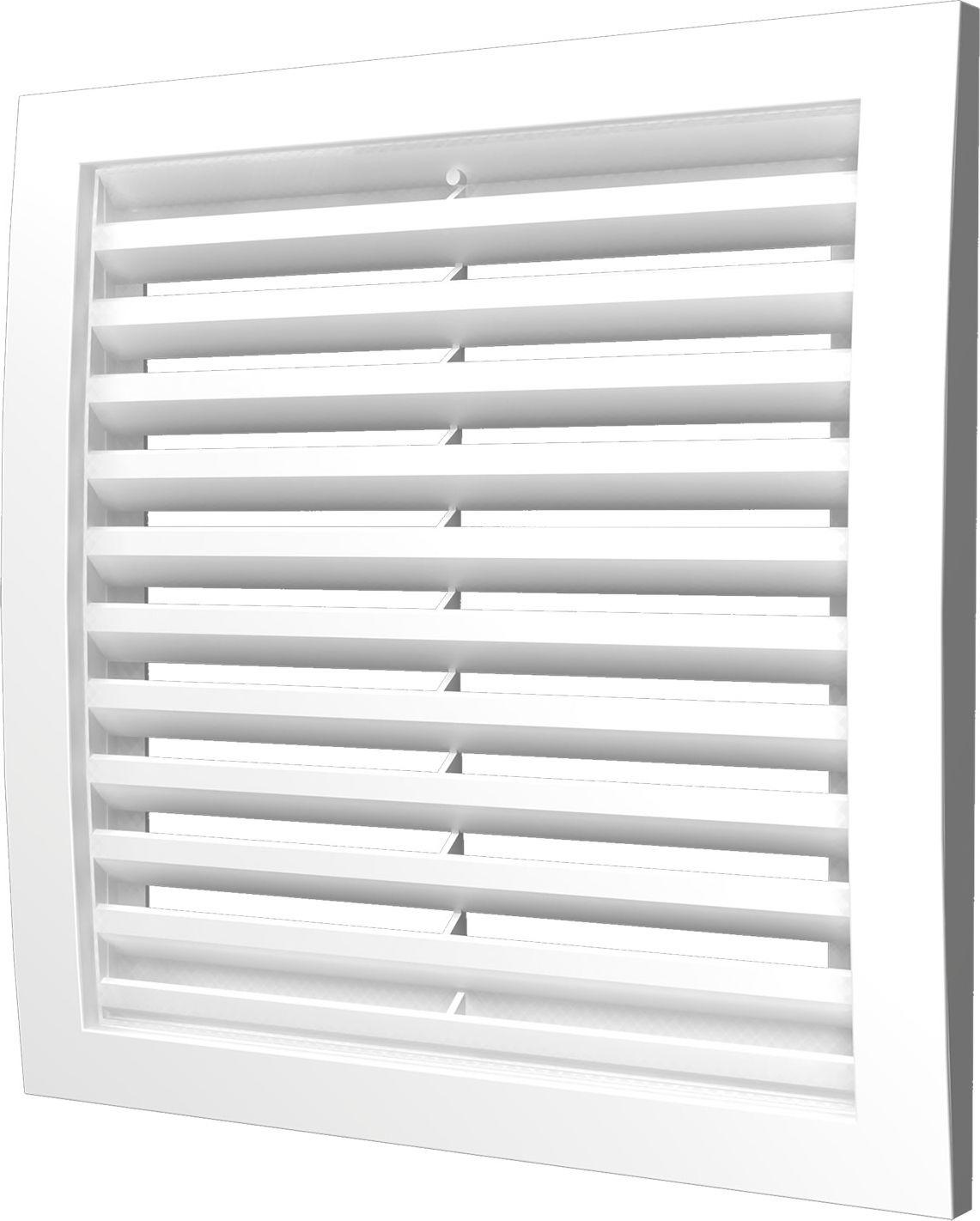 Вентиляционная решетка Street Line, 2525РРН, белый, наружная, 25 х см