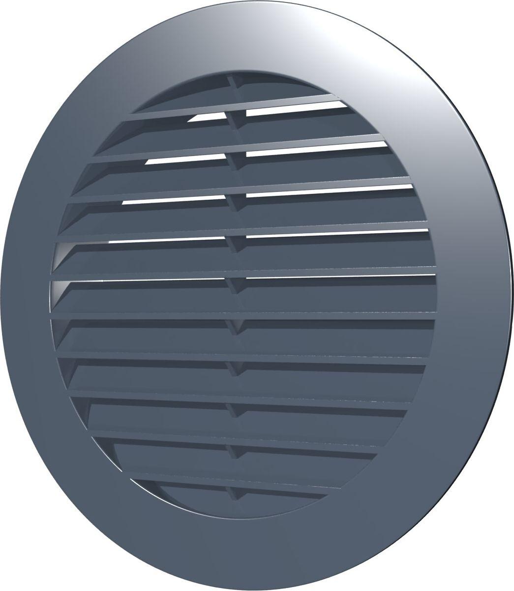 Вентиляционная решетка Street Line, 12РКН, серый, наружная, круглая, с фланцем