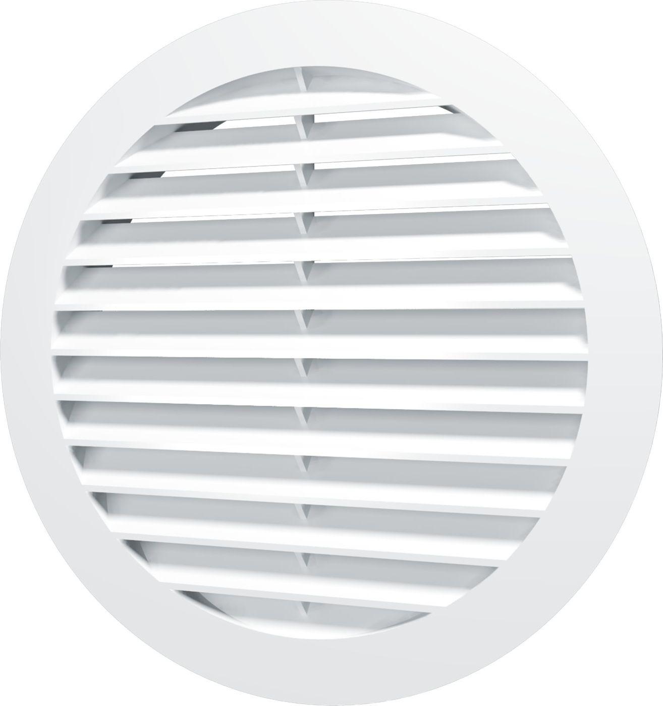 Вентиляционная решетка Street Line, 16РКН, белый, наружная, круглая, с фланцем