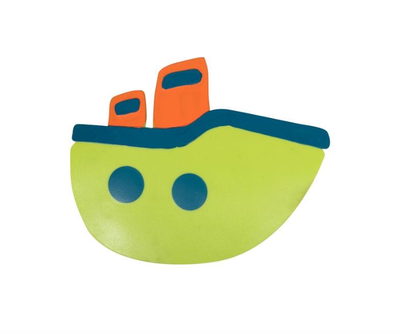 Мини-коврик для ванной комнаты КОРАБЛИКИ зелёный