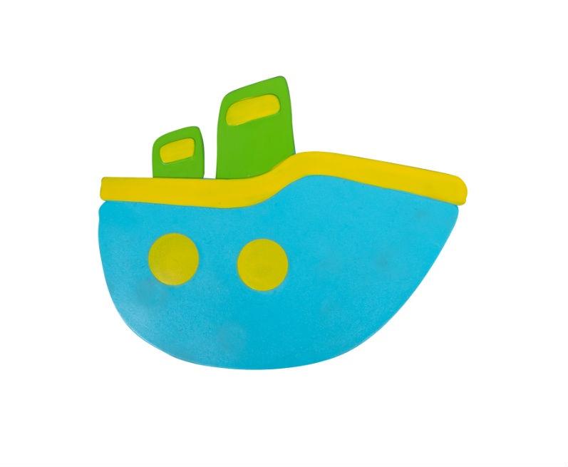 Мини-коврик для ванной комнаты КОРАБЛИКИ синий