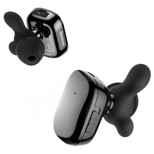 Bluetooth-наушники Baseus Encok W02 TWS - Черные наушники baseus наушники беспроводные baseus encok w02 белые baseus encok w02 белый