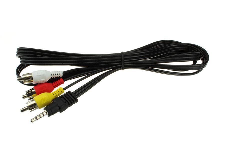 Фото - Шнур соединительный 3,5 мм TRRS-3RCA 1,5 м кабель atcom audio video 3rca trrs 3 5 mm