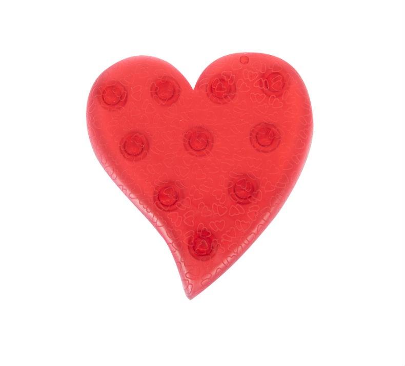 Мини-коврик для ванной комнаты СЕРДЦЕ красное