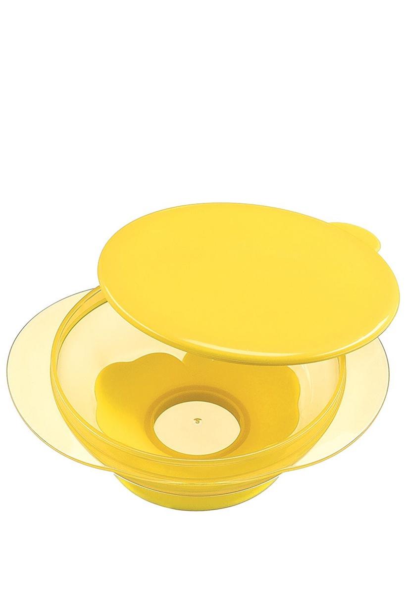 Тарелка на присоске с крышкой