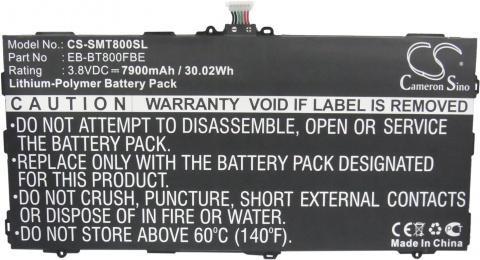 Аккумулятор для Samsung Galaxy Tab S 10.5 SM-T800, SM-T801, SM-T805, SM-T807 (EB-BT800FBE) видео для samsung s