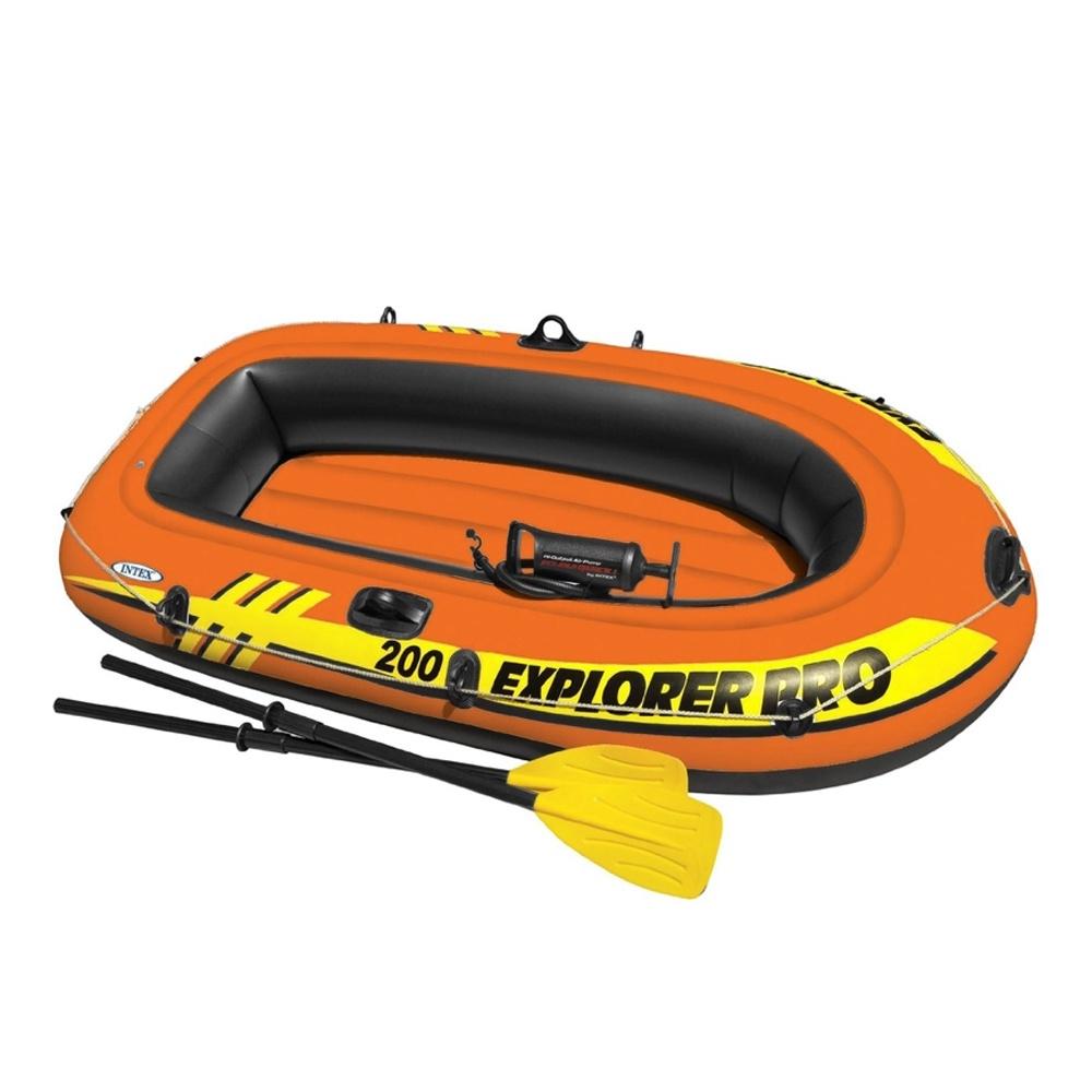 Лодка надувная INTEX EXPLORER PRO 200 SET, 196x102x33 см, с насосом и веслами