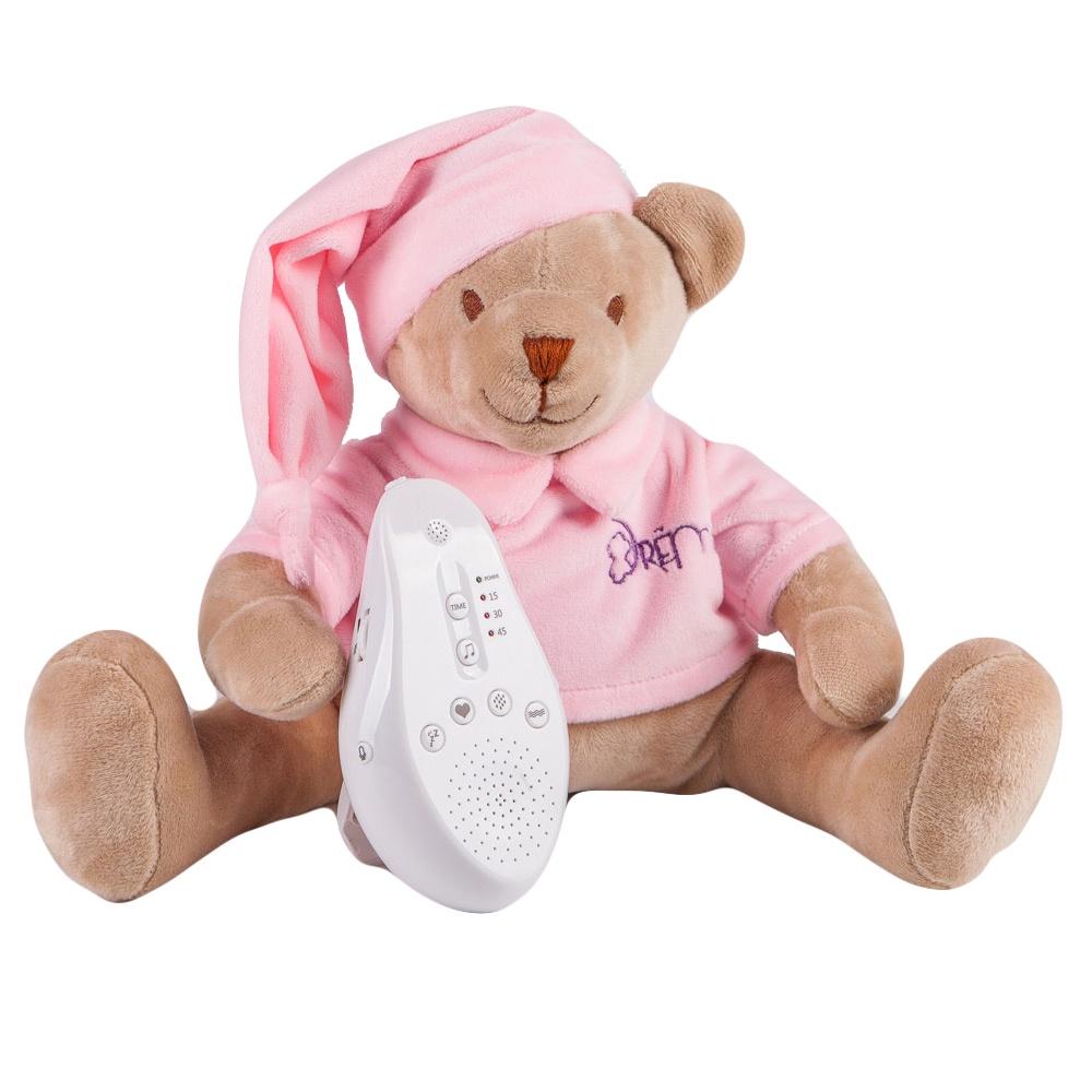 DrЁma Игрушка-комфортер для сна Мишка розовый