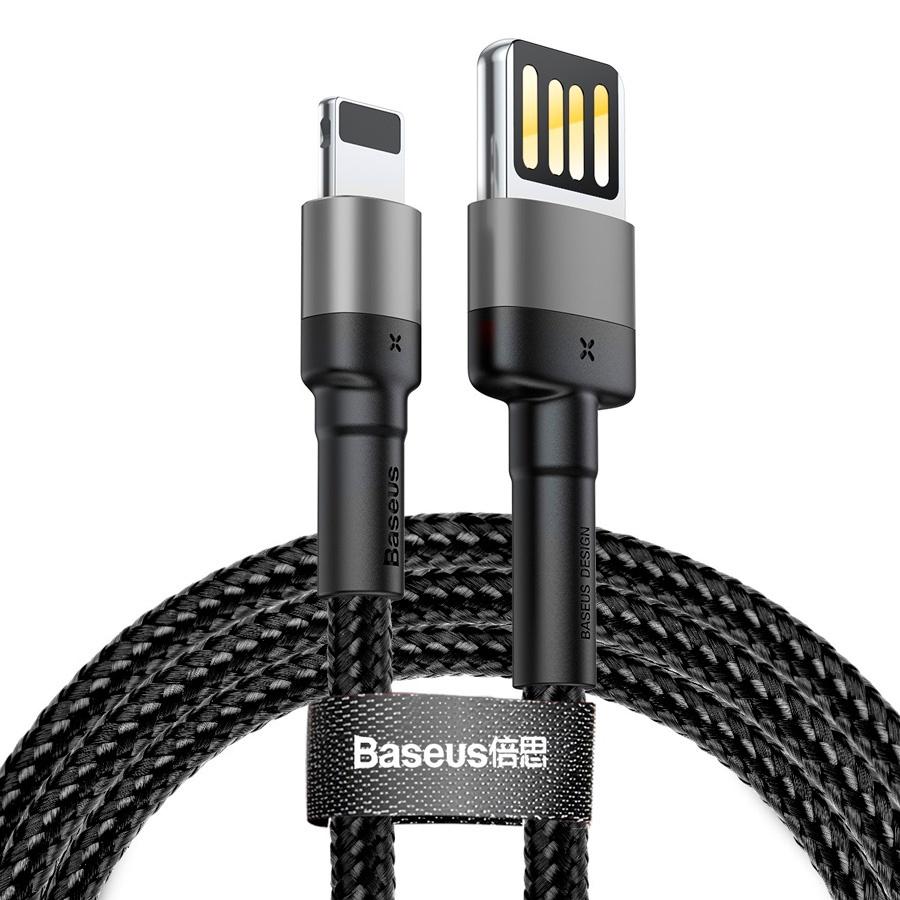 Кабель USB - Lightning 1м Baseus Cafule Cable (Special Edition) - Черный/Серый (CALKLF-GG1) usb convertor cable flying saucer