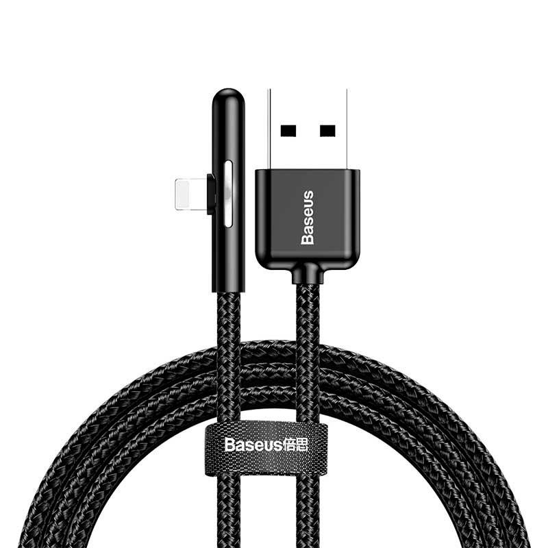 Кабель USB - Lightning 1м Baseus Iridescent Lamp Mobile Game - Черный (CAL7C-A01) кабель hama 00178208 lightning usb 2 0 1м розовый