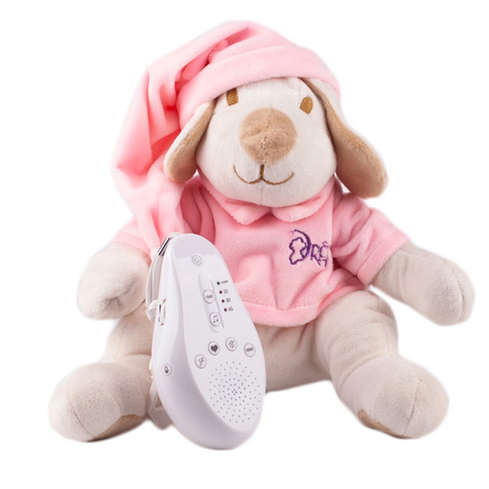 DrЁma Игрушка-комфортер для сна Собачка розовая