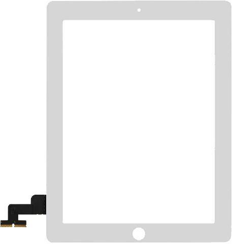 Тачскрин для iPad 2 (сенсорное стекло), белый - Оригинал