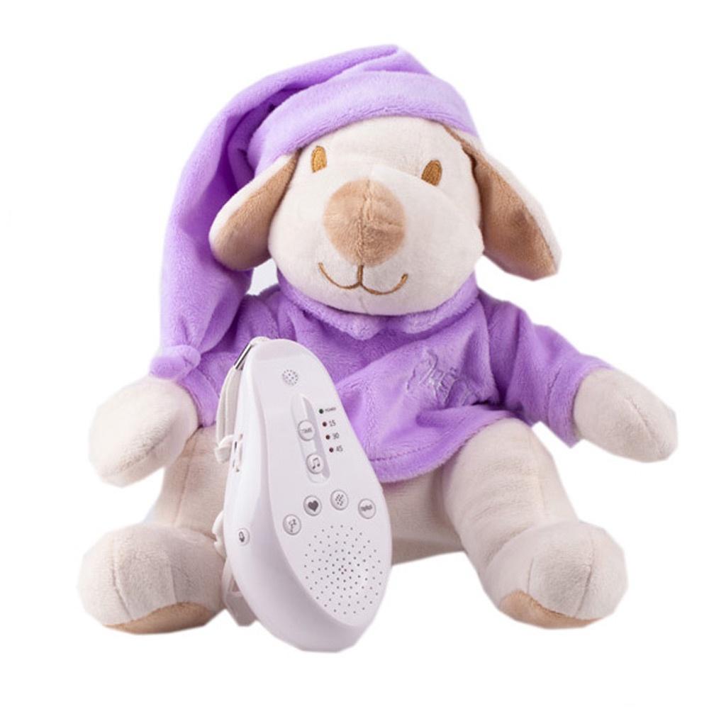 DrЁma Игрушка-комфортер для сна Собачка фиолетовая