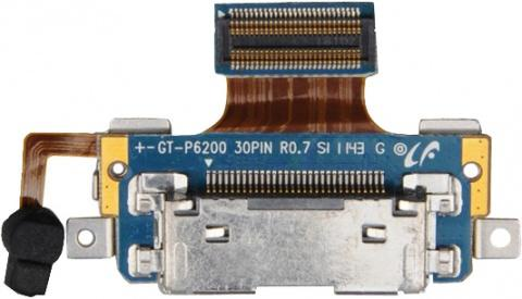 Шлейф системного разъёма (зарядки) с микрофоном для Samsung Galaxy Tab 7.0 Plus P6200 (Оригинал)