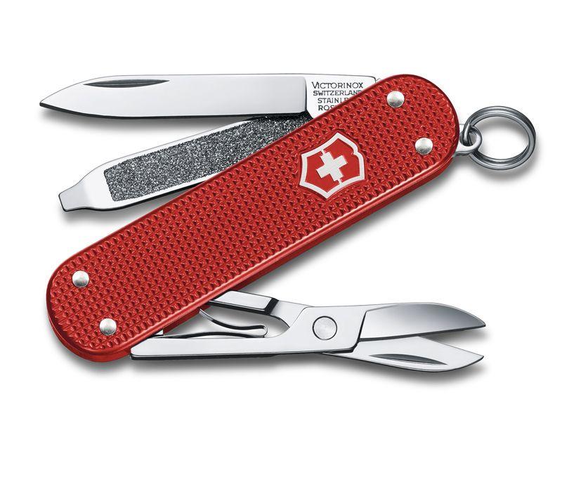 Нож перочинный Victorinox Alox Classic (0.6221.L18) 58мм 5функций красный