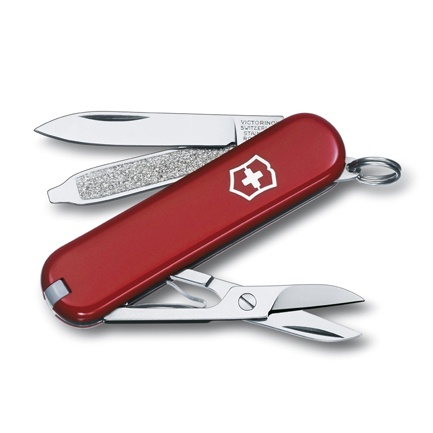 Нож перочинный Victorinox Classic (0.6223-012) 58мм 7функций красный подар.коробка