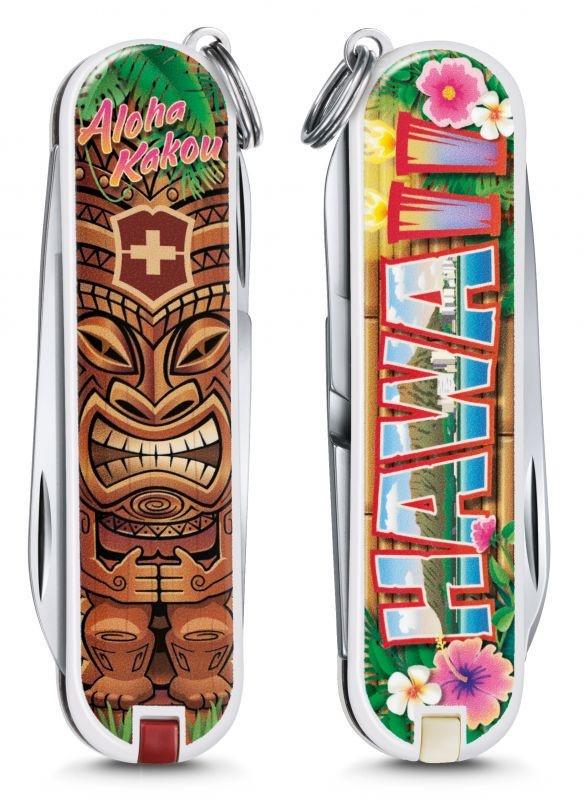 Нож перочинный Victorinox Classic Aloha Kakou (0.6223.L1809) 58мм 7функций
