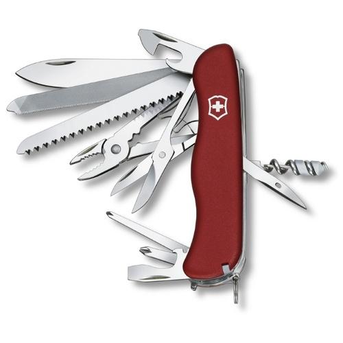 Нож перочинный Victorinox WORK CHAMP (0.8564) 111мм 21функций красный
