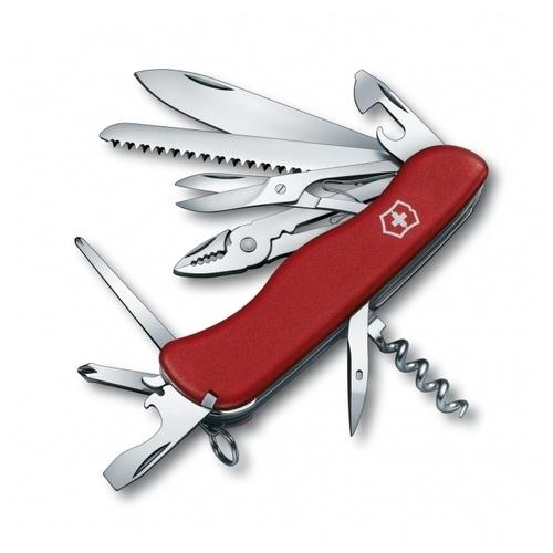 Нож перочинный Victorinox Hercules (0.9043) 111мм 18функций красный карт.коробка