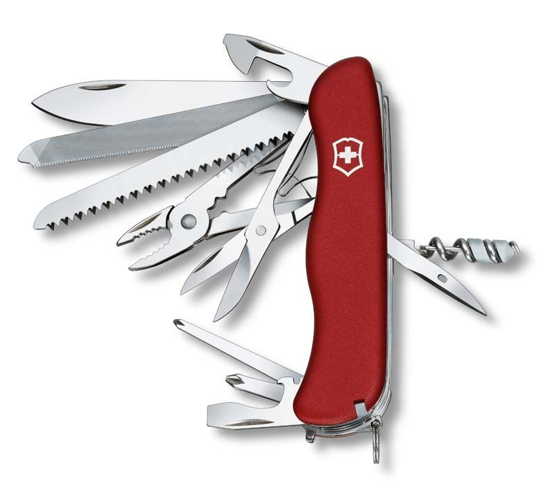 Нож перочинный Victorinox WorkChamp (0.9064) 111мм 21функций красный карт.коробка