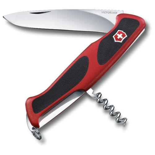 Нож перочинный Victorinox RangerGrip 52 (0.9523.C) 130мм 5функций красный/черный карт.коробка