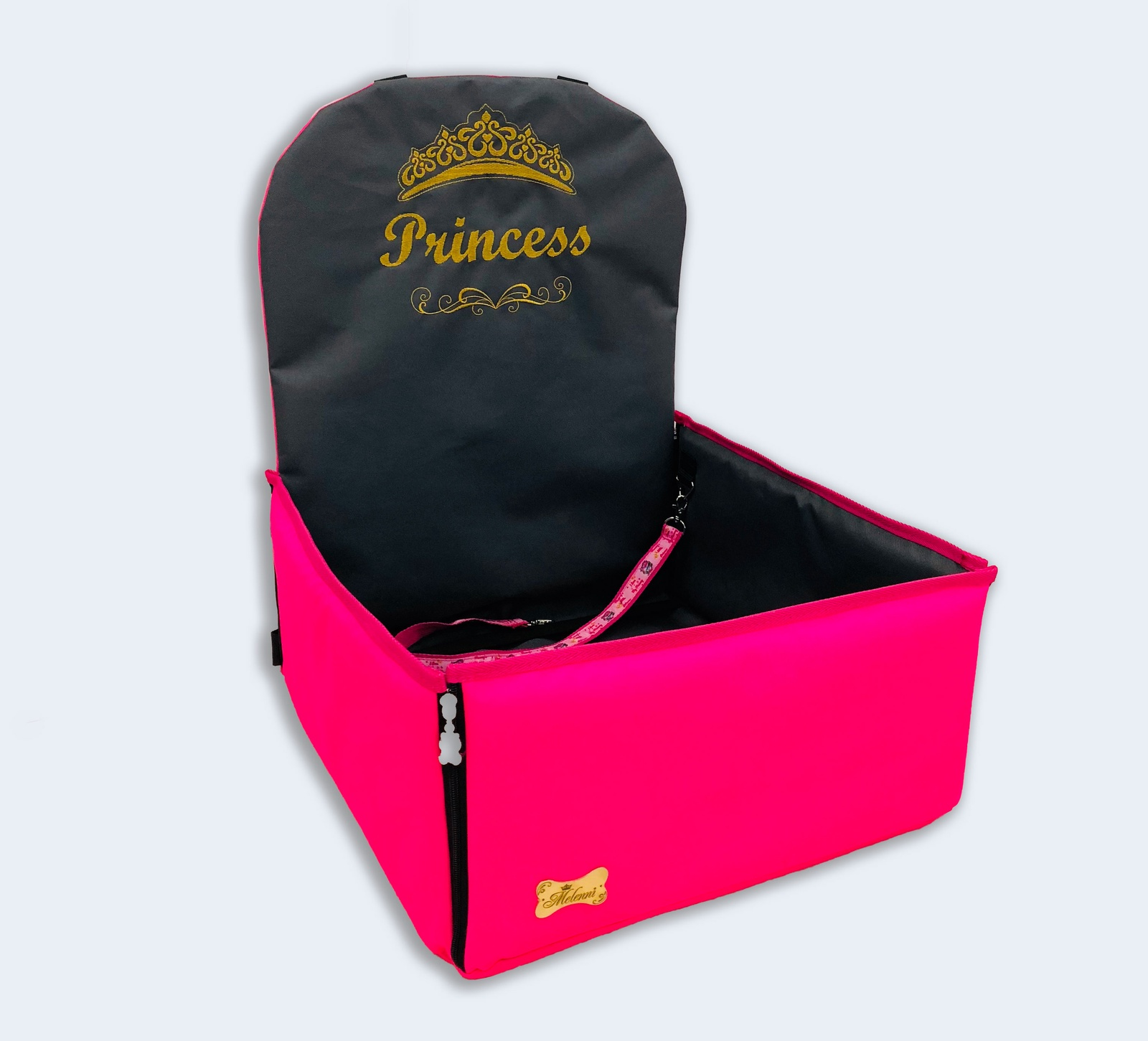 Автогамак Melenni Стандарт Princess розовый/серый