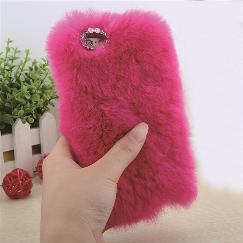 Пушистый чехол  для Apple iPhone 6 Plus/6s Plus Цвет: розовый