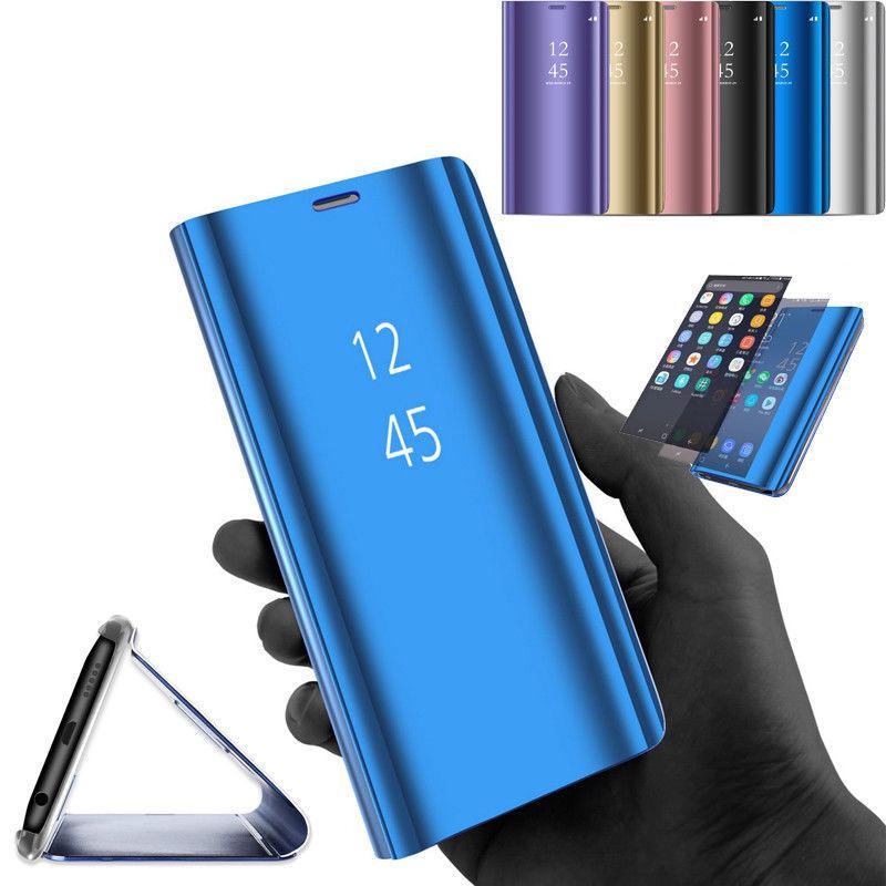 купить Смарт Покрытие Зеркало Флип кожаный Чехол Телефона Стенд Крышка для Apple iPhone 8 Цвет: золотой по цене 478 рублей