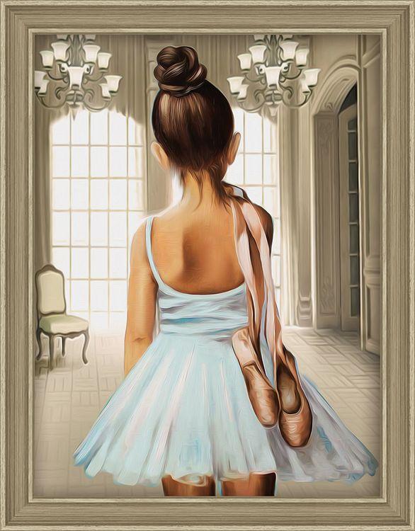 Алмазная мозаика Алмазная Живопись Юная балерина, 30x40 см