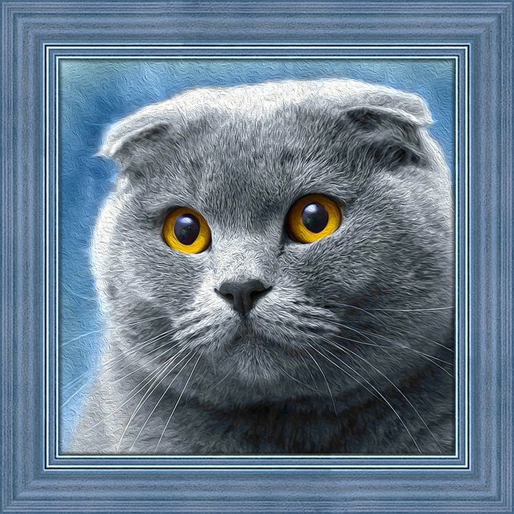 Алмазная мозаика Алмазная Живопись Шотландец, 25x25 см алмазная вышивка синицы на рябине алмазная живопись 55x40см