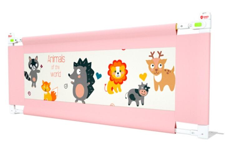 Барьер на кроватку Beideli Children Safety JC633 200 см розовый