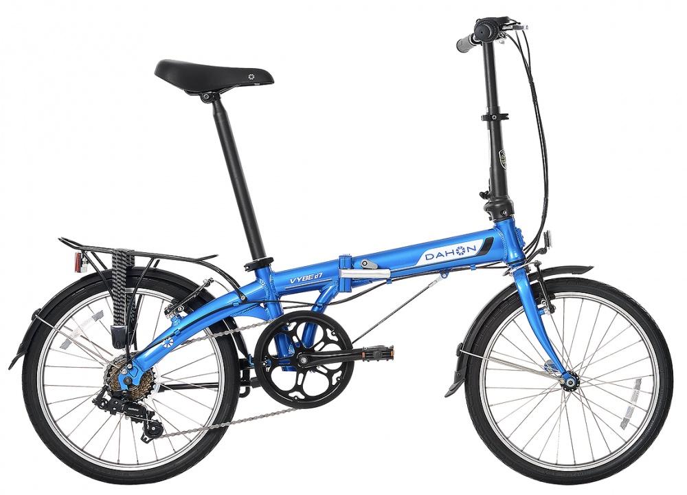 Складной велосипед Dahon Speed D7 Azure (голубой), рама стальная, колёса 20, 7 скоростей