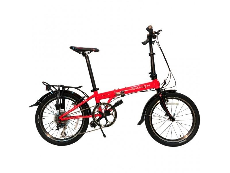 Складной велосипед Dahon Speed D8 Flame (красный), рама стальная, колёса 20, 8 скоростей top gear велосипед складной 20 eco 6 скоростей синий внс2086