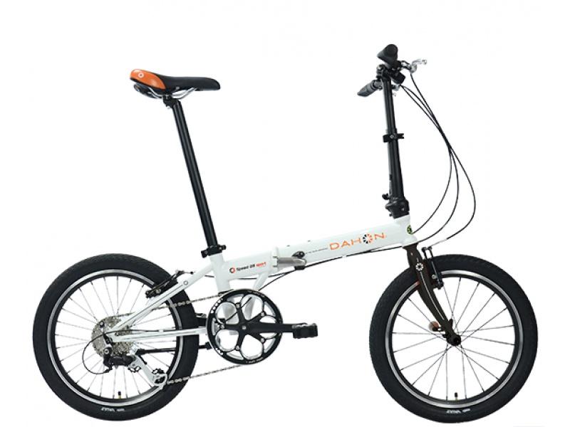Складной велосипед Dahon Speed D8 Cloud (белый), рама стальная, колёса 20, 8 скоростей top gear велосипед складной 20 eco 6 скоростей синий внс2086