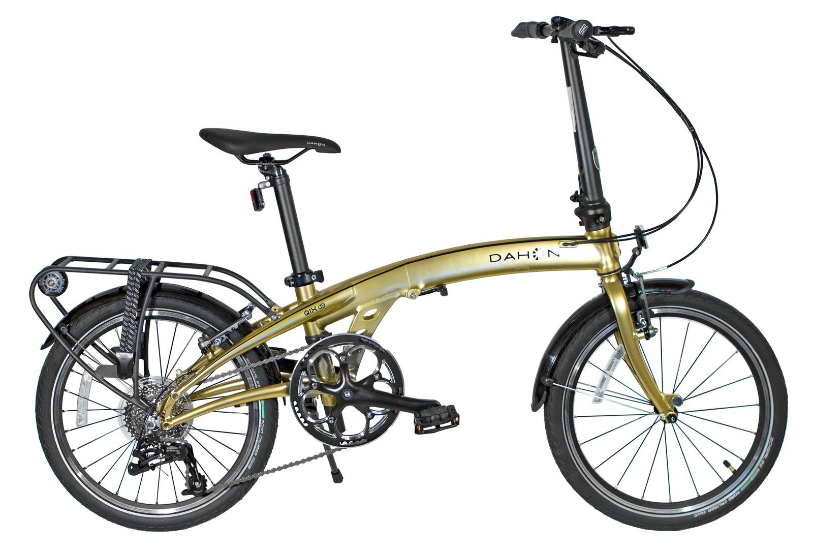 Велосипед складной DAHON QIX D9 золотистый, 9 скоростей top gear велосипед складной 20 eco 6 скоростей синий внс2086