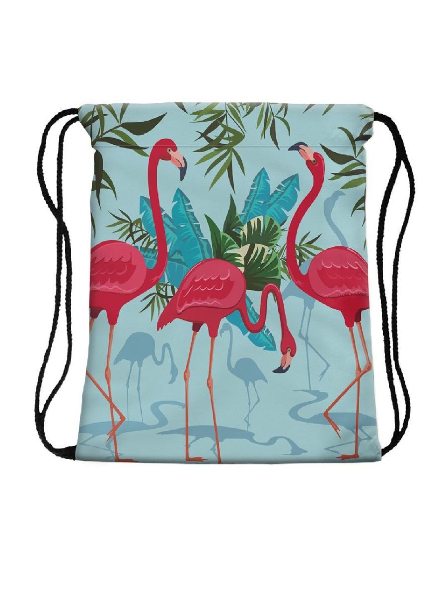 Сумка-мешок для сменной обуви Three Flamingos flamingos сандалии