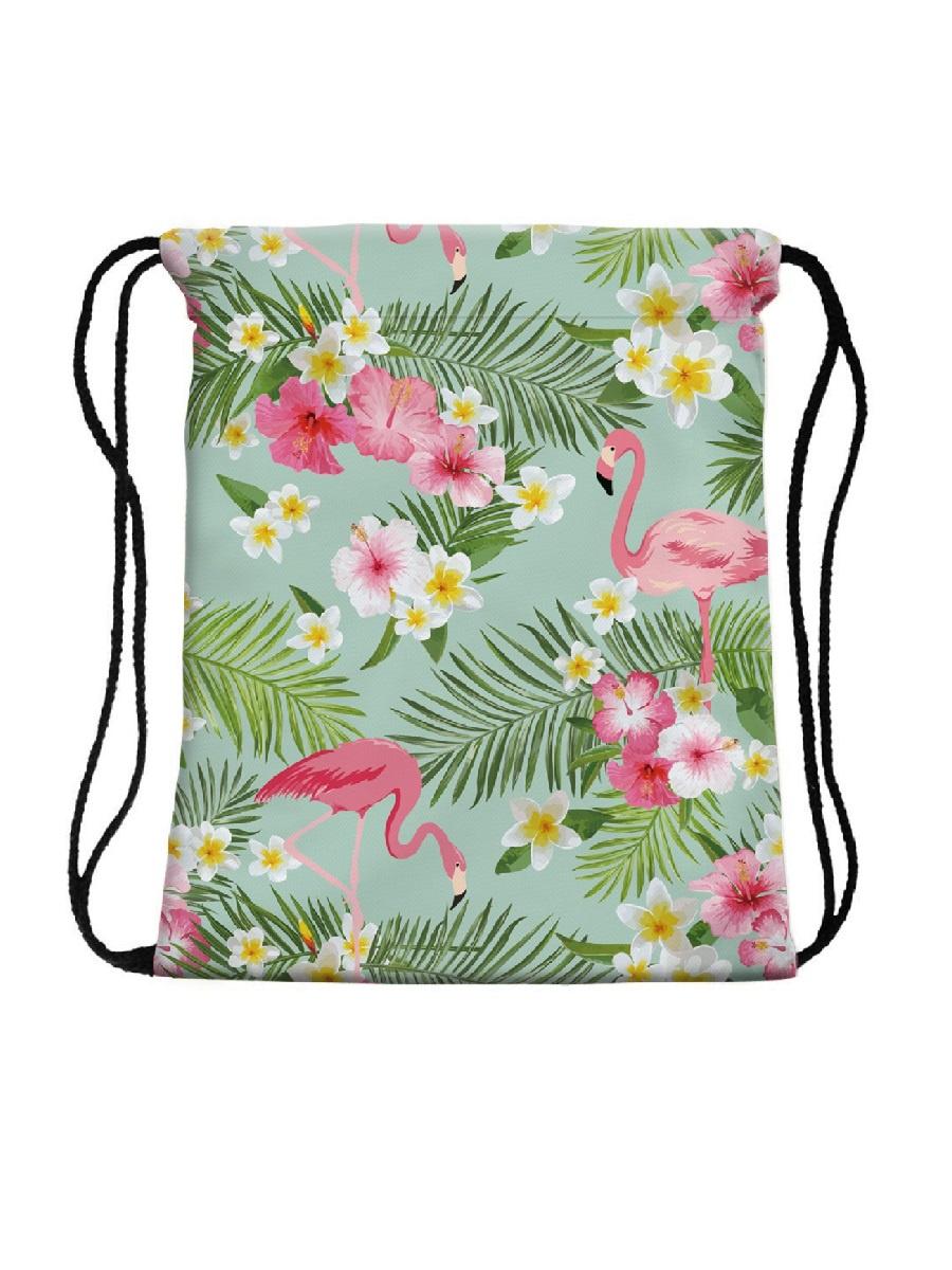 Сумка-мешок для сменной обуви Summer Flamingos flamingos сандалии