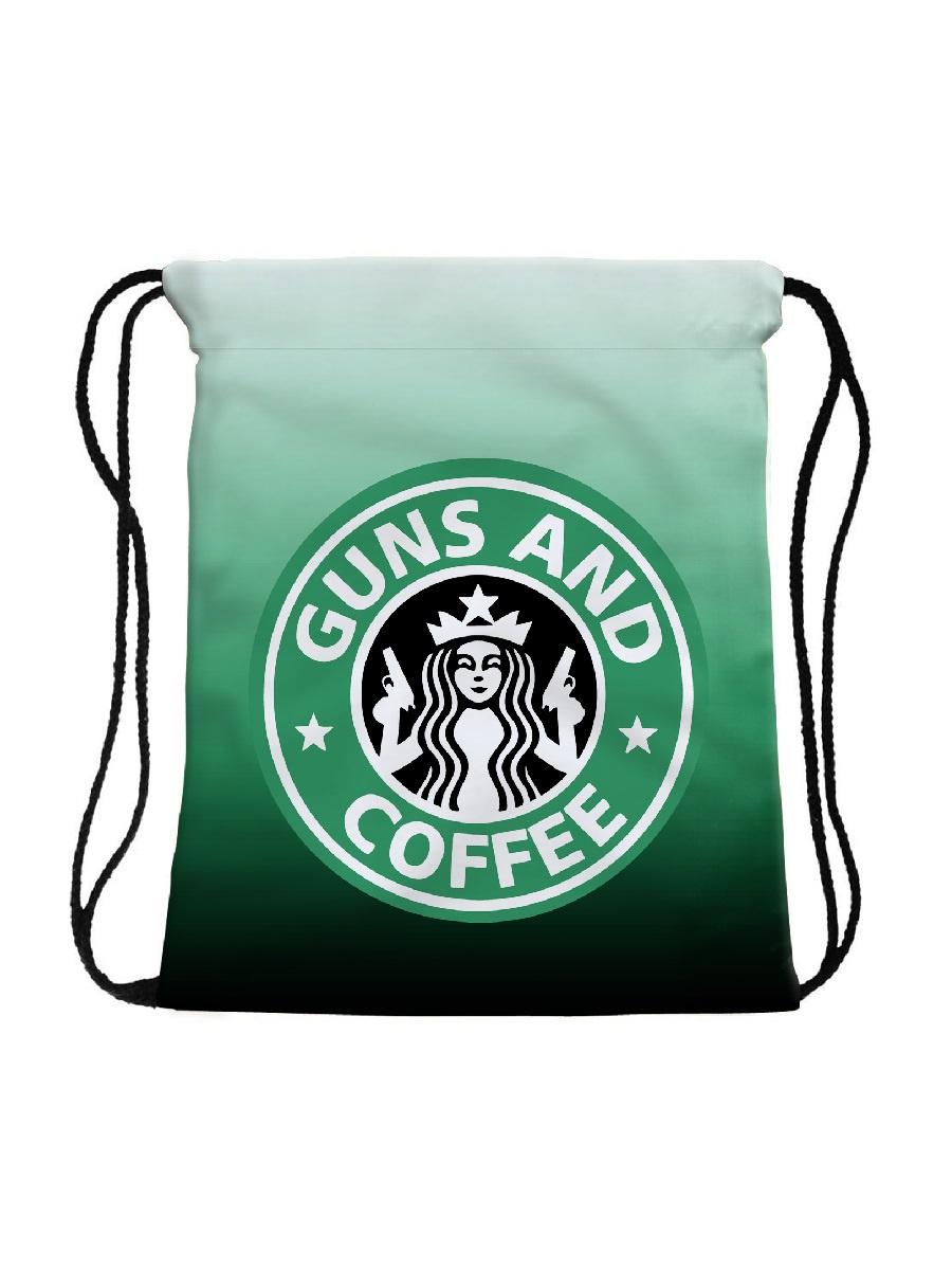 Сумка-мешок для сменной обуви Guns Coffee цена и фото