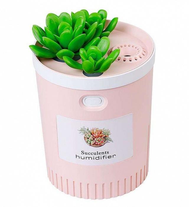 Мини Usb Увлажнитель воздуха Foonee Succulents Нumidifier, розовый