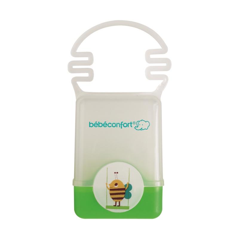 Пластиковый контейнер Bebe Confort для хранения пустышки с ручкой Confort, цвет зеленый