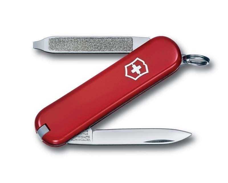 Нож-брелок VICTORINOX Escort, 58 мм, 6 функций, красный