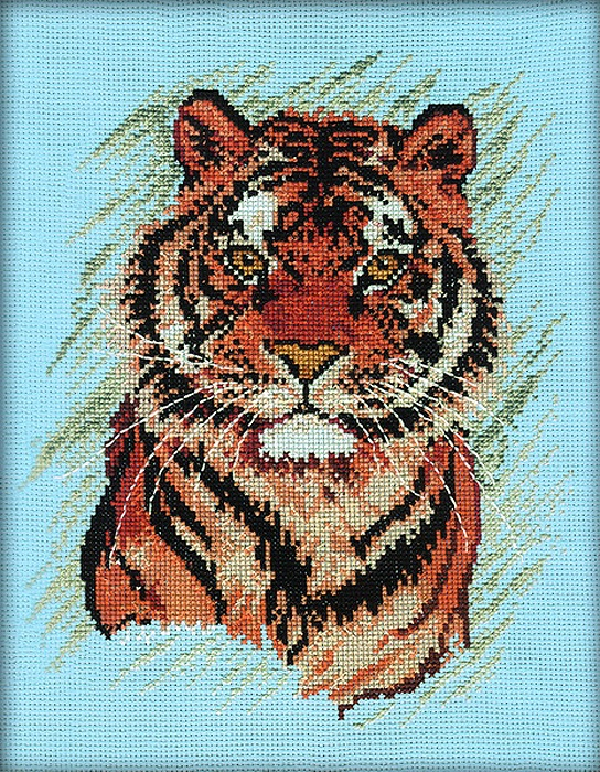 Набор для вышивания РТО Тигр (20х25 см.) набор для вышивания крестом рто 3 5 х 5 5 см fa012