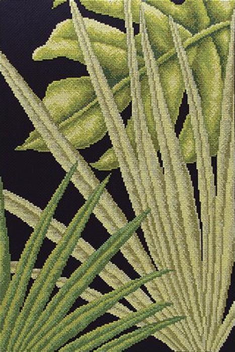 Набор для вышивания РТО Пальмовые листья - 1 (30 x 45 см.) набор для вышивания крестом рто рыжая русалка 25 5 х 36 см