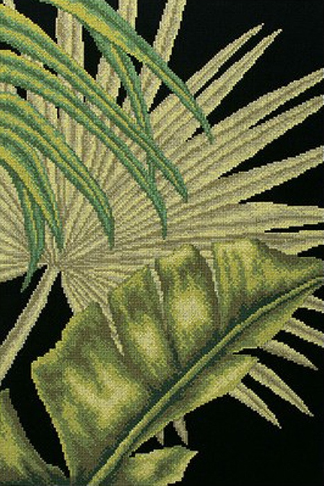 Набор для вышивания РТО Пальмовые листья - 3 (30 x 45 см.) набор для вышивания крестом рто 3 5 х 5 5 см fa011
