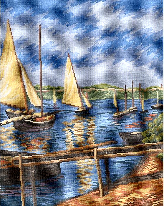 Набор для вышивания РТО Парусные лодки (29 х 37 см. ) набор для вышивания крестом рто 3 5 х 5 5 см fa012