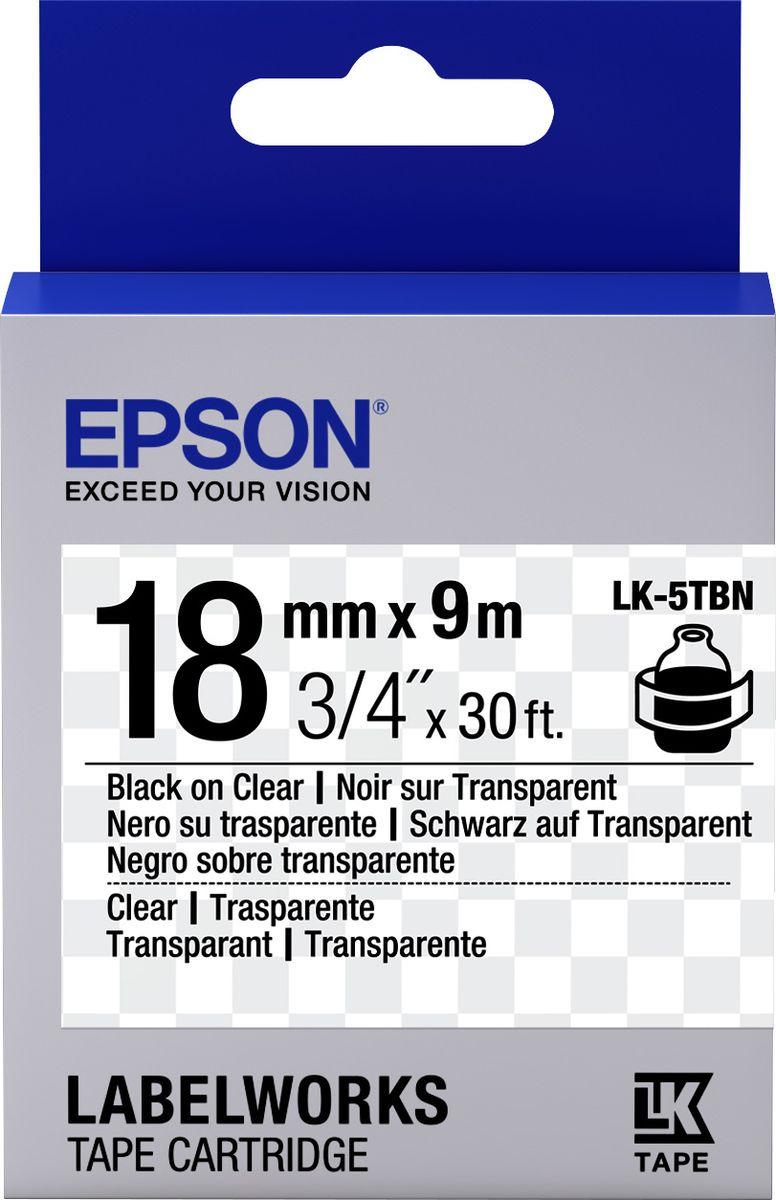 Картридж Epson для LabelWorks LW-400/LW-400VP/LW-700/LW-900P, C53S655008, оригинальный, прозрачный цена