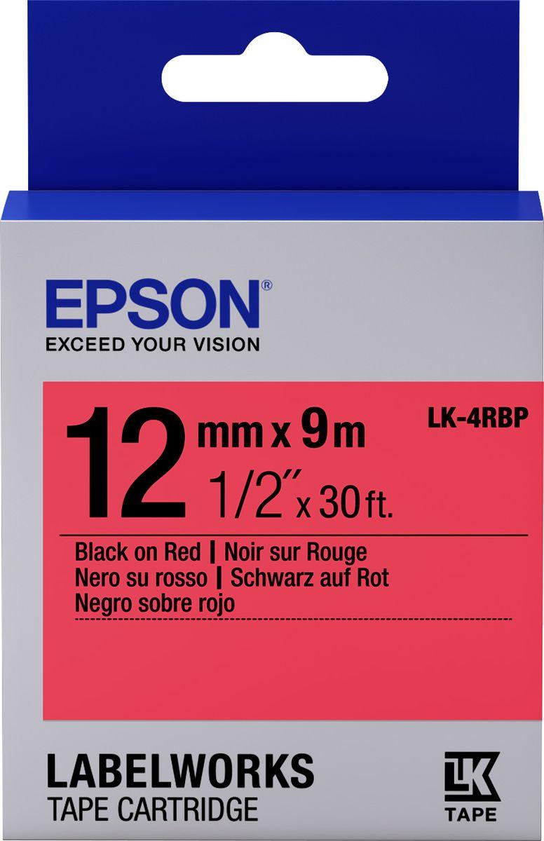 Картридж Epson для LabelWorks LW-300/LW-400/LW-400VP/LW-700/LW-900P, C53S654007, оригинальный, красный цена