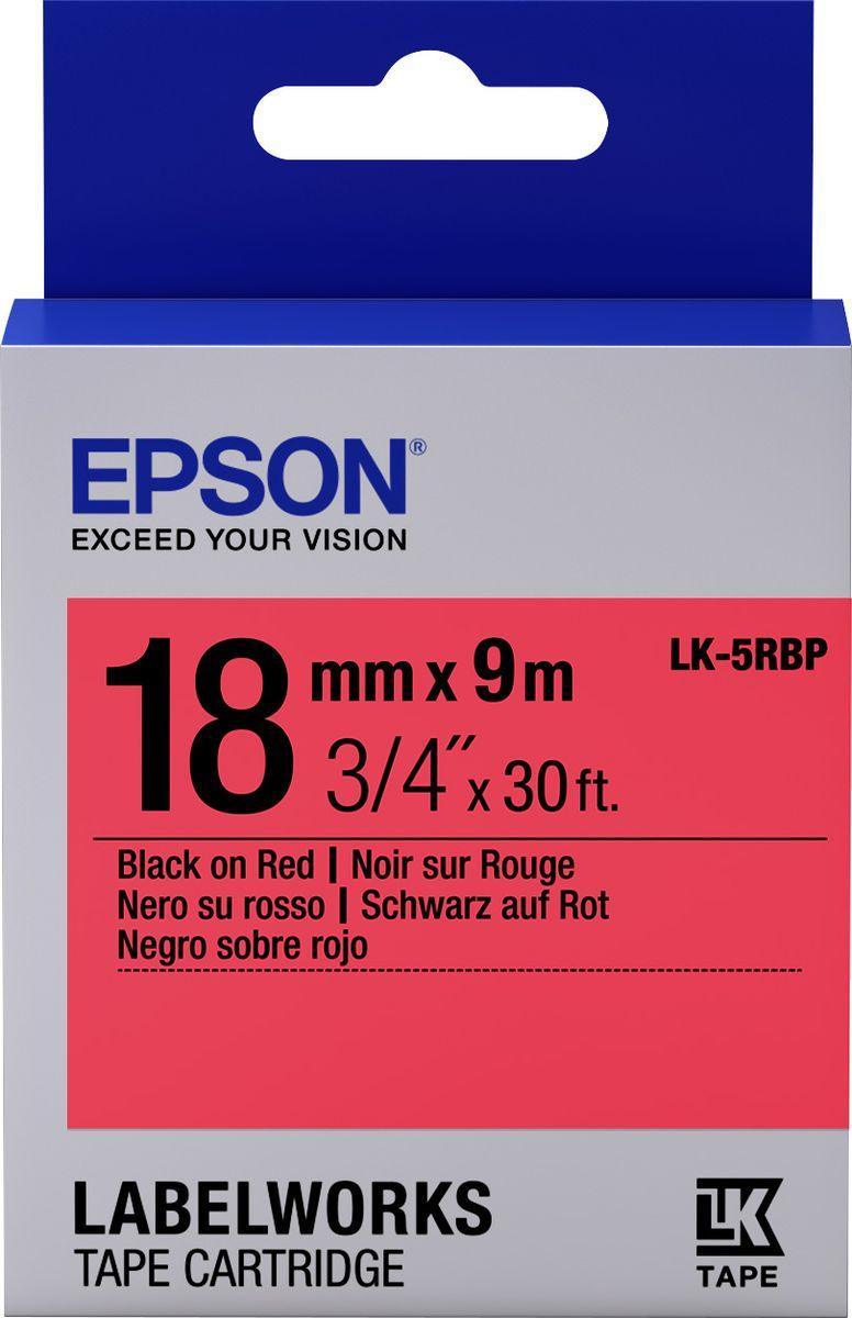 Картридж Epson для LabelWorks LW-400/LW-400VP/LW-700/LW-900P, C53S655002, оригинальный, красный цена